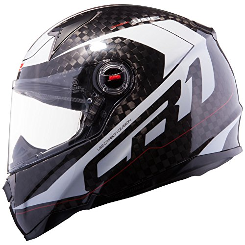 LS2 FF396.62 CR1 Diablo Motorcycle Helmet XL Carbon White