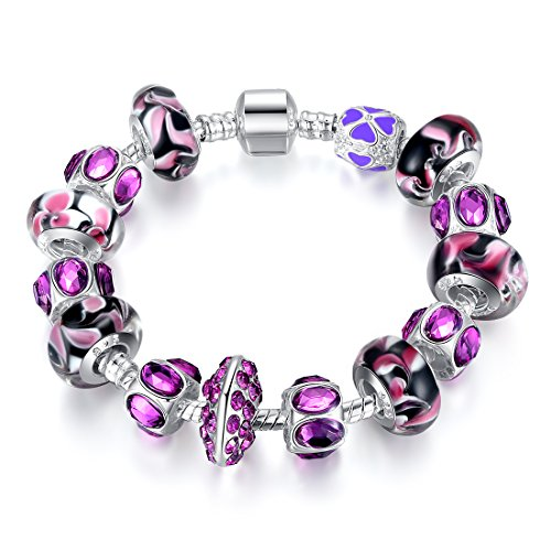 Bamoer 2015 July New Arrival Purple & Lilac Murano