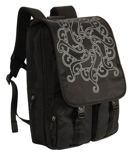"Laurex Laptop/Notebook Backpack - Black Tattoo, fits up to a 17"" laptop"