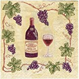 Vineyard Cocktail Napkins - Wine and Grape Design