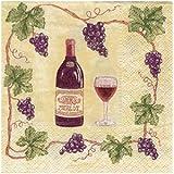 Vineyard Cocktail Napkins - Wine and Grape Design