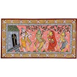Ancient Art of India Wall Decor Patachitra Paintings Organic Color on Paper 20 x 38 Cms ~ ShalinIndia