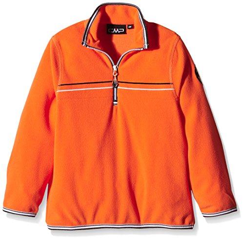 CMP - F.lli Campagnolo, Felpa in pile Bambino, Arancione (Spicy Orange), 104 cm