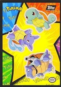 Squirtle Wartortle Blastoise Sticker Puzzle Card - Pokemon The First Movie - 1I