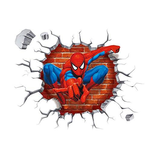 adesivi-per-pareti-creativa-3d-spider-man-croce-oggettistica-per-la-casa-stickers-impermeabile-imper