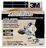 3M 9682 SandBlaster 4-1/2-Inch Multi-Grit Surface Conditioning Disc