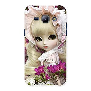Gorgeous Angel Look Doll Back Case Cover for Galaxy J1