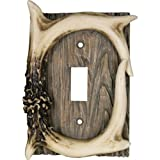 Rivers Edge Products Deer Antler Single Switch Electrical Cover Plate CVR