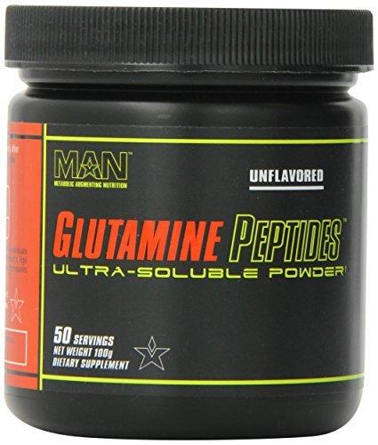 MAN Sports Glutamine Peptides Nutritional Supplement, Unflavored, 100 Gram