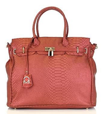 Noble Mount London Office Tote - Snake Red