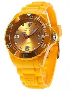 DeTomaso  Unisex-Armbanduhr COLORATO Yellow Analog Quarz Silikon DT2012-C
