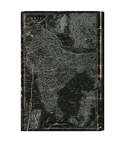 Oliver Gal Hatcher & Ethan 'India 1892 Map' Canvas Art