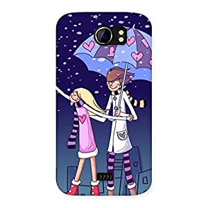 Anime Couple Back Case Cover for Micromax Canvas 2 A110