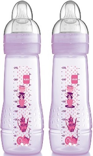 Mam 270Ml Baby Bottle (Pink, Pack Of 2) back-1062807