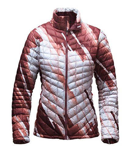 The North Face Women's Thermoball Full Zip Jacket(Large,Deep Garment Red Stripe Print) (Face Garments compare prices)
