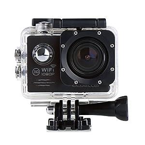 CS720W Wifi 1080P HD Action Kamera 2.0 Zoll LCD Schirm wasserdichte Sport Kamera 12MP DV des Auto DVR Fahrrad Helmkamera (Schwarz)