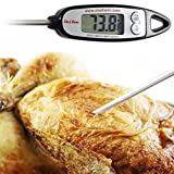 Chef Remi Digital Cooking Thermometer | Lifetime Replacement Warranty | Instant Read | Best for Kitchen, Oven, Oil, Water, BBQ, Smoker, Meat, Turkey, Candy and Any Food | Rated No.1 Grill Accessories