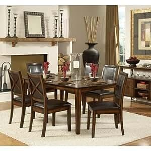 com homelegance verona 6 piece dining room set table chair sets
