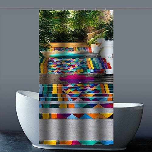 """Hot Kitchen Custom Stairs Waterproof Soap Resistant Shower Curtain 36"""" x 72"""""""