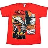Star Wars Star Wars The Clone Wars Red Juvenile Toddler T-shirt Tee