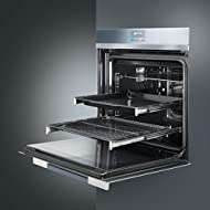 Single Electric Oven Stainless Steel/ Silver Glass - Smeg - SFP140
