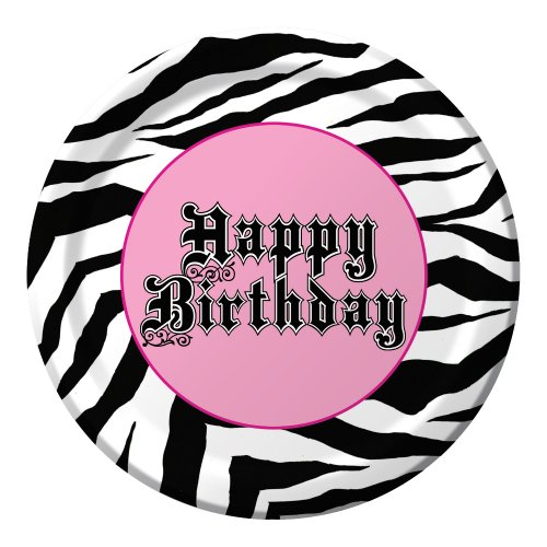 Creative Converting Super Stylish Happy Birthday 8 Count Paper Lunch Plates