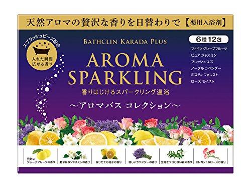バスクリン カラダプラス アロマスパークリング アロマバスコレクション 30g 12包入り 入浴剤 (医薬部外品)