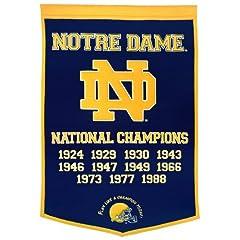 Buy NCAA Notre Dame Fighting Irish Dynasty Banner by Winning Streak