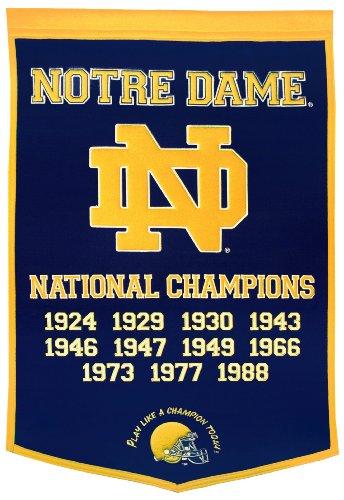 NCAA Notre Dame Fighting Irish Dynasty Banner Winning Streak Wall Banners autotags B000H246J2