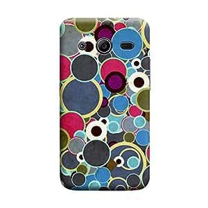 Desicase Samsung Core 2 Multicolor Bubble Pattern 3D Matte Finishing Printed Designer Hard Back Case Cover (Multicolor)