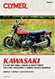 Acquista Clymer Kawasaki, Z & Kz900-1000 CC Chain & Shaft Drive, 1973-1981 (Includes C Series Police Models) (Clymer Motorcycle Repair)