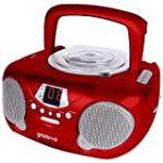 Groov-e GVPS713RD Boombox Portable CD...