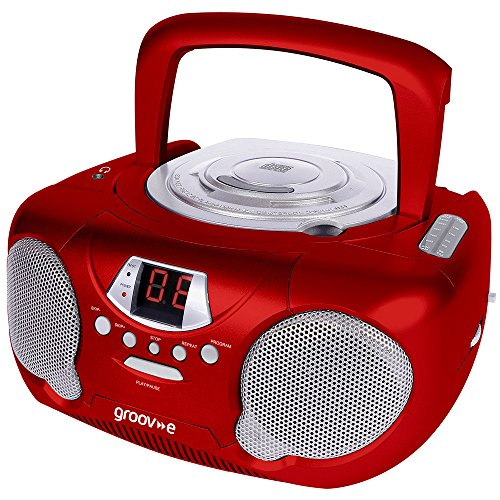 groov-e-gvps713rd-boombox-portable-cd-player-with-radio-headphone-jack-redfor-use-with-non-mp3-cd