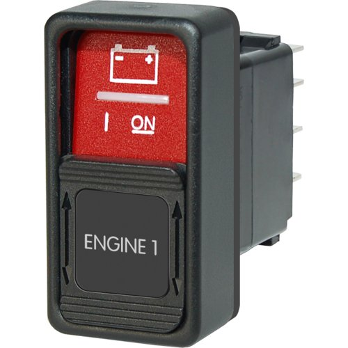 1 - Blue Sea 2155 Remote Control Contura Switch with Lockout Slide
