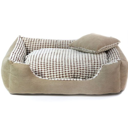 Colorfulpets hair resistant corn kernels suede dog bed for Dog proof pillows