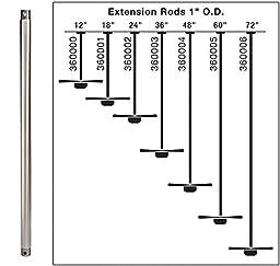 Kichler Lighting 360002GST 24-Inch Extension Downrod, Galvanized Steel