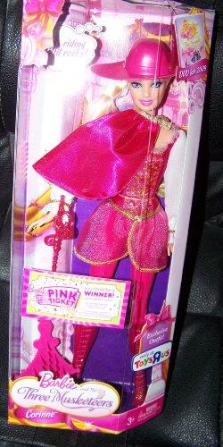 Barbie y los Tres Mosqueteros Corinne Traje exclusivo