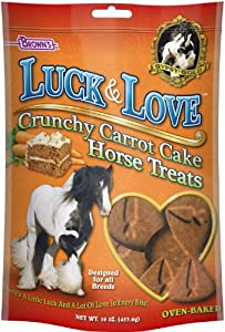 F.M. Brown's Gypsy Gold Luck and Love Horse Treats, 16-Ounce, Crunchy Carrot Cake Zipper