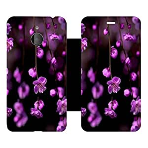 Skintice Designer Flip Cover with Vinyl wrap-around for Microsoft Lumia 640 XL , Design - Flower
