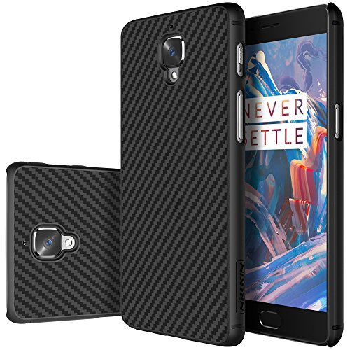 Oneplus 3 Case, Nillkin Synthetic Fiber Premium Bumper Case Cover [Compatible with Magnetic Car Holder] for Oneplus 3 - Black (Nillkin Bumper compare prices)