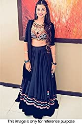 Georgette Party Wear Lehenga Choli in Blue Colour