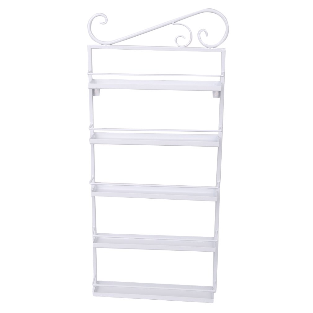 Blackpoolfa 3pcs 5 Layers Metal Nail Polish Wall Rack by 5 Tier Organizer Display Rack Holds Over 200 bottles (white)