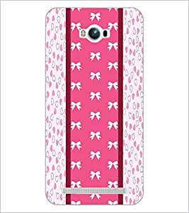 PrintDhaba Ribbon Pattern D-3229 Back Case Cover for ASUS ZENFONE MAX ZC550KL (Multi-Coloured)