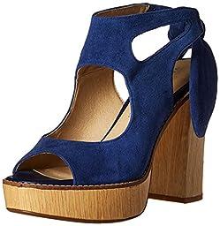 Very Volatile Women\'s Rissa Dress Sandal, Navy, 10 B US