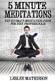 5 MINUTE MEDITATIONS: THE ULTIMATE BEGINNER MEDITATION GUIDE FOR BUSY PROFESSIONALS