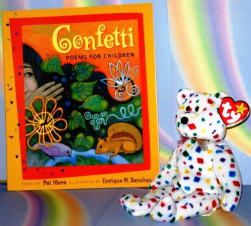 Ty 2K the Rainbow Confetti Bear WITH