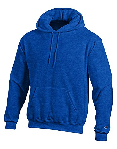 Champion Men's Double Dry Eco Hooded Pullover Fleece, Royal Blue Heather 2-XL