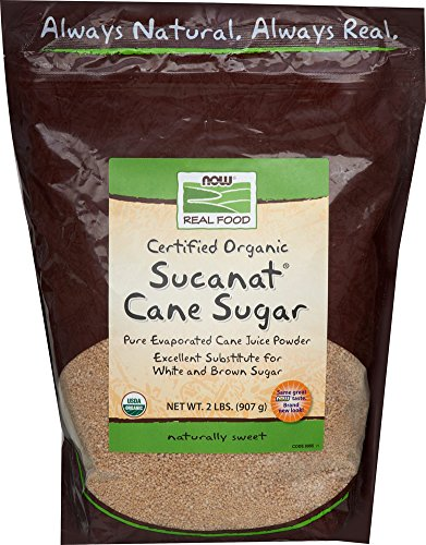 NOW Foods Organic Sucanat Cane Sugar-2 Bag