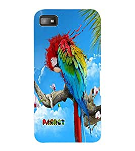 ColourCraft Colorful Parrot Design Back Case Cover for BLACKBERRY Z10