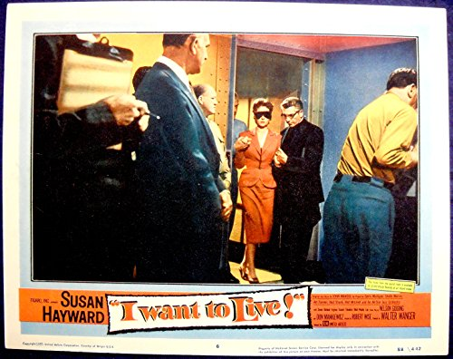 I WANT TO LIVE MOVIE POSTER! Susan Hayward's Oscar Winning Role-1958-lc#6 i want you to want me